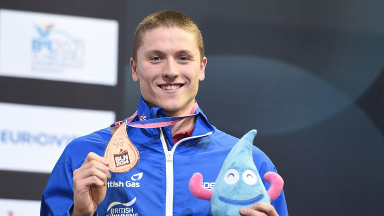 Roberto Pavoni: Claimed a place on the podium in the 200 metres individual medley