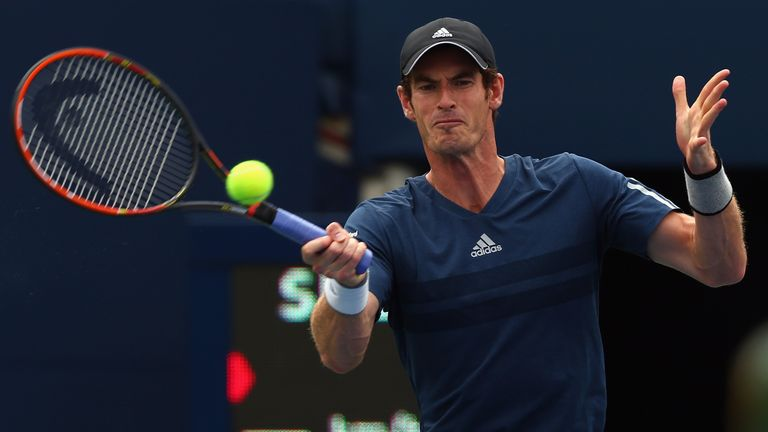 Andy Murray: During his defeat to Jo-Wilfried Tsonga in Toronto