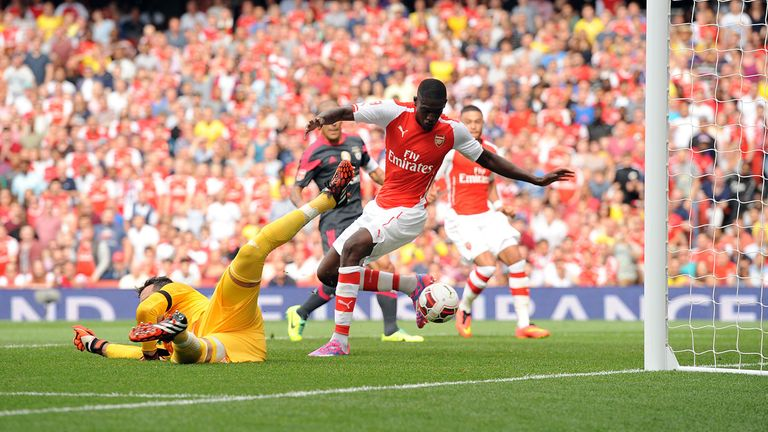 Yaya Sanogo: Netted four times as Arsenal strolled to a big win