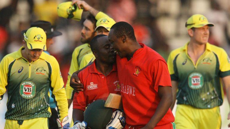 Zimbabwe celebrate rare victory over Australia