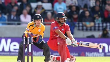 Ashwell Prince: Lancashire opener launched three sixes in his 72 not out