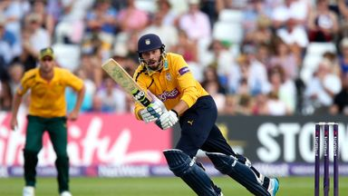 James Vince on his way to a match-winning knock for Hampshire
