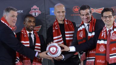 Jermain Defoe (second from left): Uncertain future at Toronto