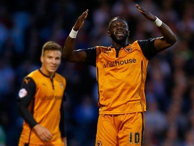 Bakaray Sako celebrates his goal at Craven Cottage