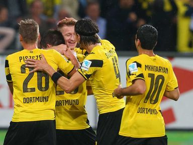 Marco Reus takes the plaudits after opening the scoring for Dortmund