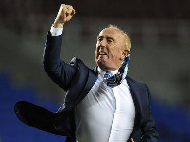 Huddersfield Town caretaker manager Mark Lillis celebrates his side's win