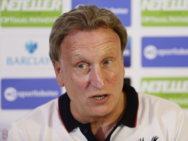 Crystal Palace manager Neil Warnock during his press conference