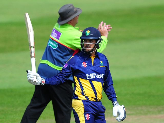Jacques Rudolph salutes his century at Taunton