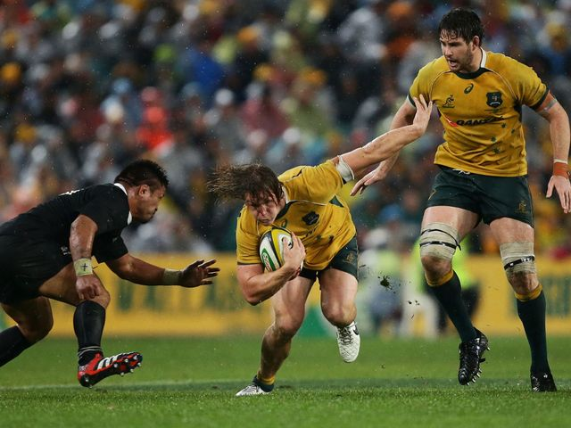 Micahel Hooper in action at ANZ Stadium