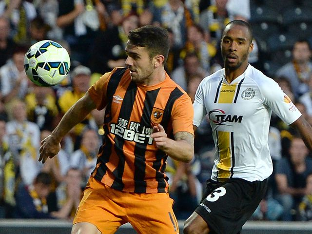 Robbie Brady puts Hull a goal up in the first half