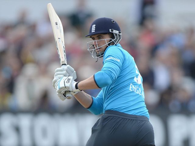 Alex Hales of England bats during the third ODI at Trent Bridge