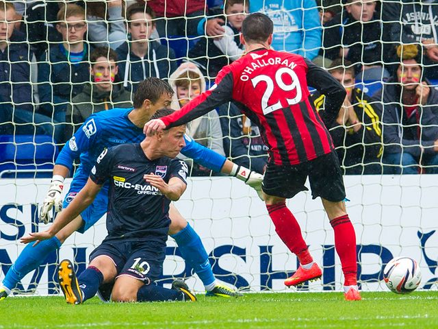 Michael O'Halloran slots home for St Johnstone