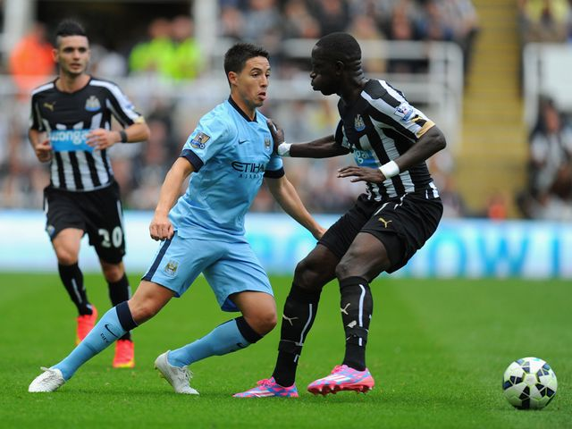 Samir Nasri in action for Manchester City