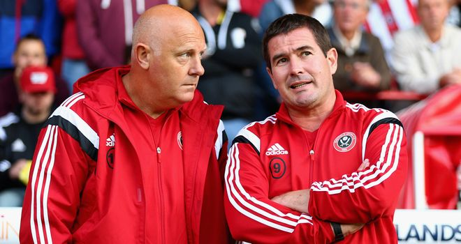 Clough (r): With Blades first-team coach Andy Garner