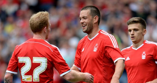 Matty Fryatt: Celebrates his goal against West Brom