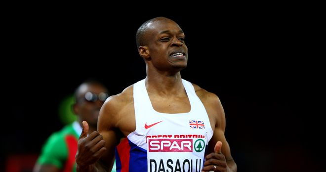 James Dasaolu: Finished third, ahead of his two fellow Brits, in the 100 metres