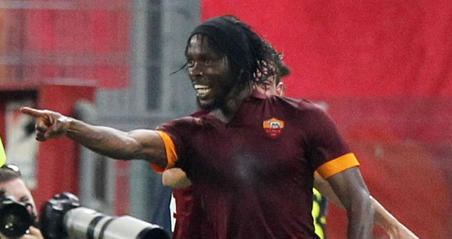 Gervinho celebrates his goal