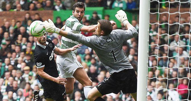 Charlie Mulgrew: the skipper scores Celtic's fourth goal