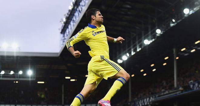 Diego Costa: Chelsea striker scored twice against Everton