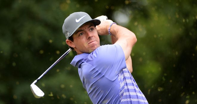 Rory McIlroy in action on day two