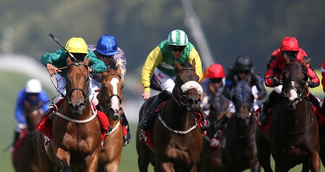 Almargo (far left) comes out on top in the 32Red Handicap