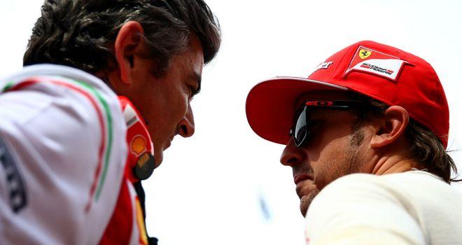Marco Mattiacci in conversation with Fernando Alonso