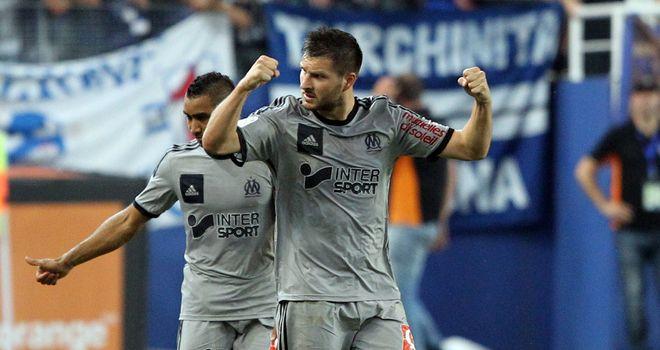 Andre-Pierre Gignac celebrates for Marseille