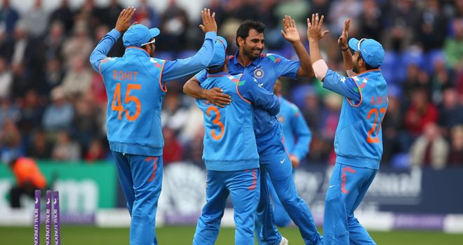 Mohammed Shami: Celebrating the wicket of Alastair Cook that sparked England's collapse