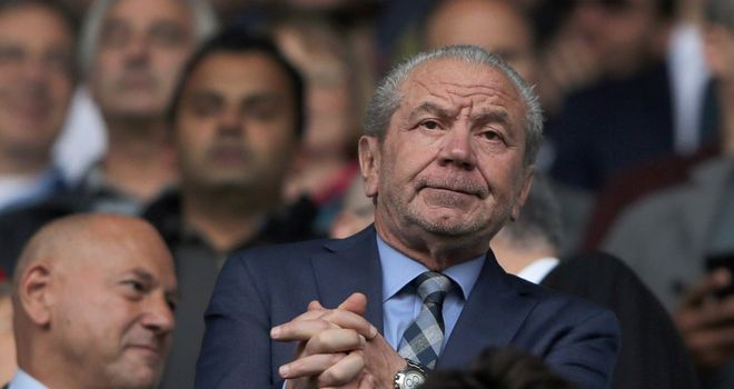 Former Tottenham chairman Lord Sugar: Admits Arsenal are dark horses for title