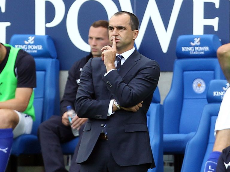 Roberto Martinez: Wants to build on the positives from Everton's opening day draw to Leicester.