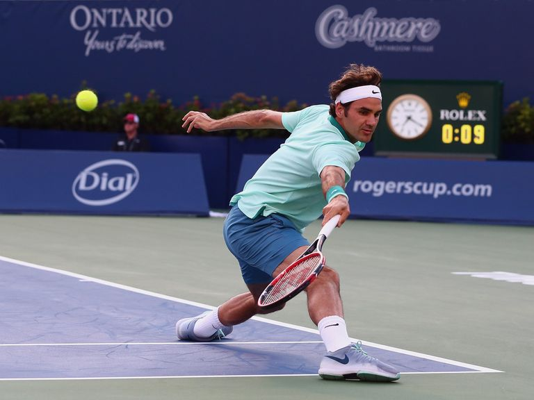 Roger Federer: Claimed a straight-sets win