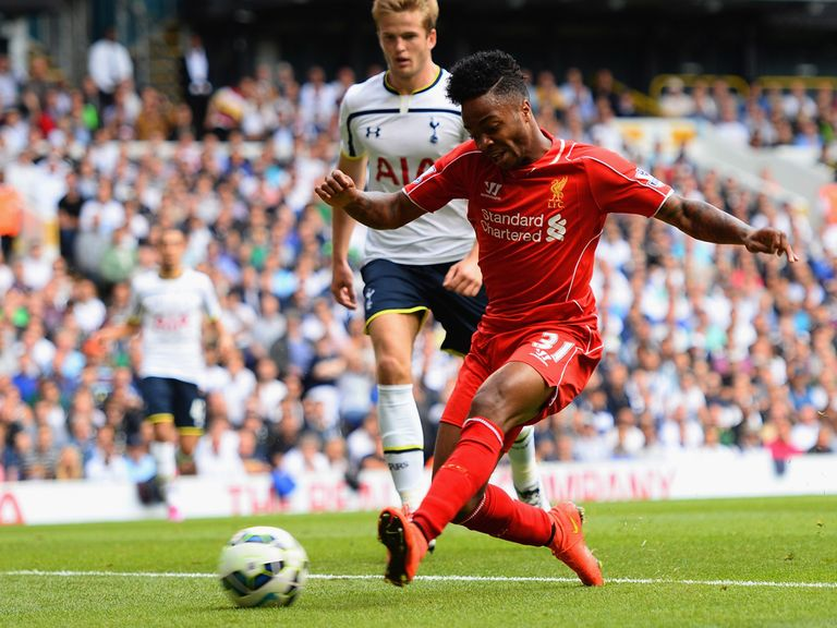 Raheem Sterling opened the scoring for Liverpool at White Hart Lane