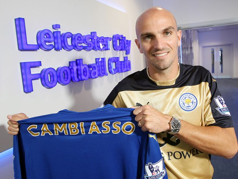 Esteban Cambiasso: Signs for Leicester (Photo LCFC/Plumb Images)