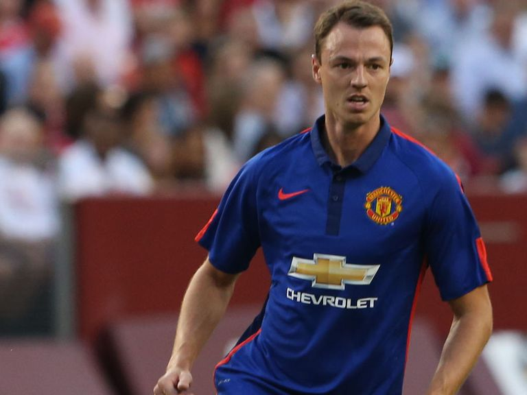 Jonny Evans during United's pre-season fixture against Inter Milan