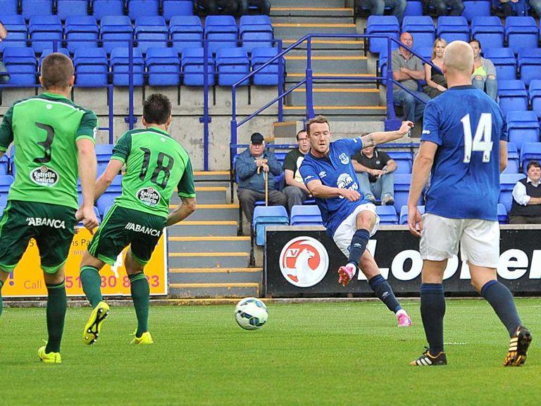 Aiden McGeady opens the scoring for Everton against Celta Vigo