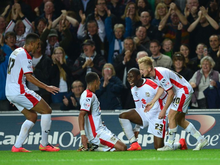 MK Dons will play Bradford in the third round