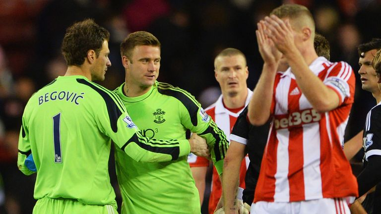 Asmir Begovic: Caught out opposite number Artur Boruc