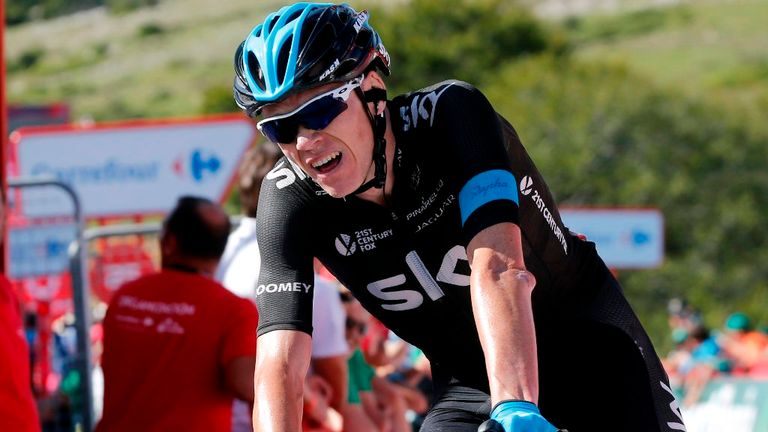 Chris Froome fought back from being dropped twice to finish fifth on the stage