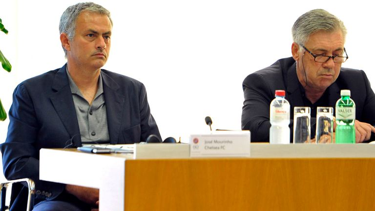 Jose Mourinho: Attends a UEFA coaching seminar in Nyon