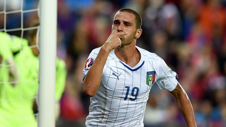 Bonucci: Celebrates his goal