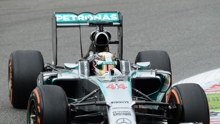 Hamilton recovered to end practice second fastest behind Nico Rosberg
