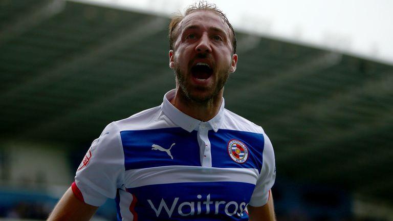 Glenn Murray: Celebrates his first goal for Reading