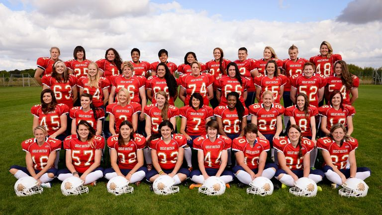Women american football team