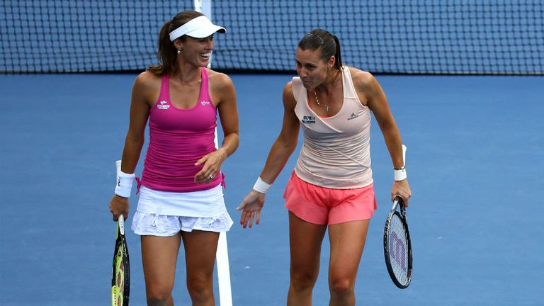 Martina Hingis (L): Swiss veteran has reached her first major final in 12 years