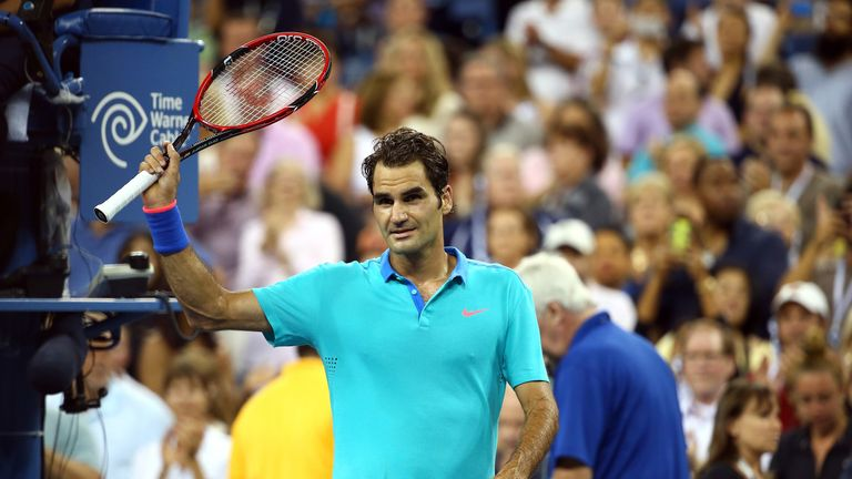Roger Federer: Recovered from a slow start to beat Marcel Granollers
