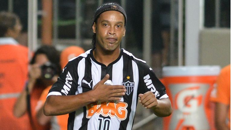Ronaldinho would eventually return to Brazil, playing for Atletico Mineiro between 2012 and 2014