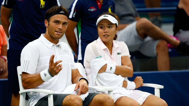 Chan Yung-Jan and Ross Hutchins at the US Open