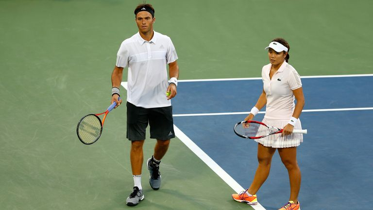 Ross Hutchins (L) and Yung-Jan Chan: Narrowly beaten in US Open semi-finals
