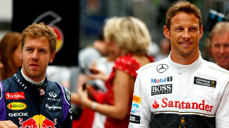 Sebastian Vettel and Jenson Button