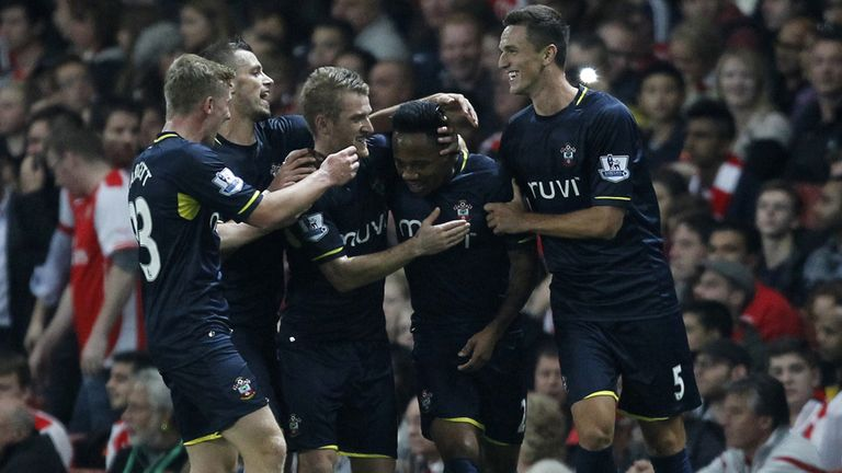 Nathaniel Clyne: Mobbed by team-mates after winner